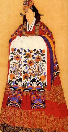 """Korean traditional wedding dress worn especially by princesses_called """"Hwal-ot"""""""