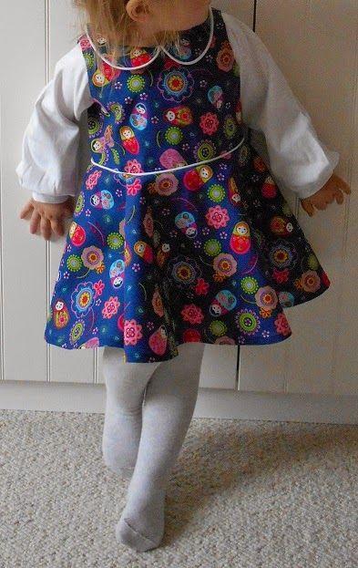 JANuAry trifft JuNE: JuNE-Partykleid mit Drehrock für kleine Tanzmäuse. Kostenloses Schnittmuster.