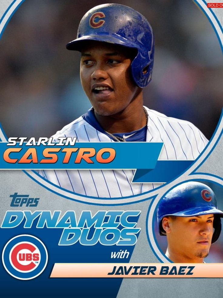 Topps Bunt Dynamic Duos Starlin Castro Javier Baez Cubs RARE Only 375 Exist   eBay