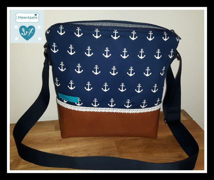 Umhängetaschen - Umhängetasche, Handtasche Maritim  - ein Designerstück von MeerNaht bei DaWanda