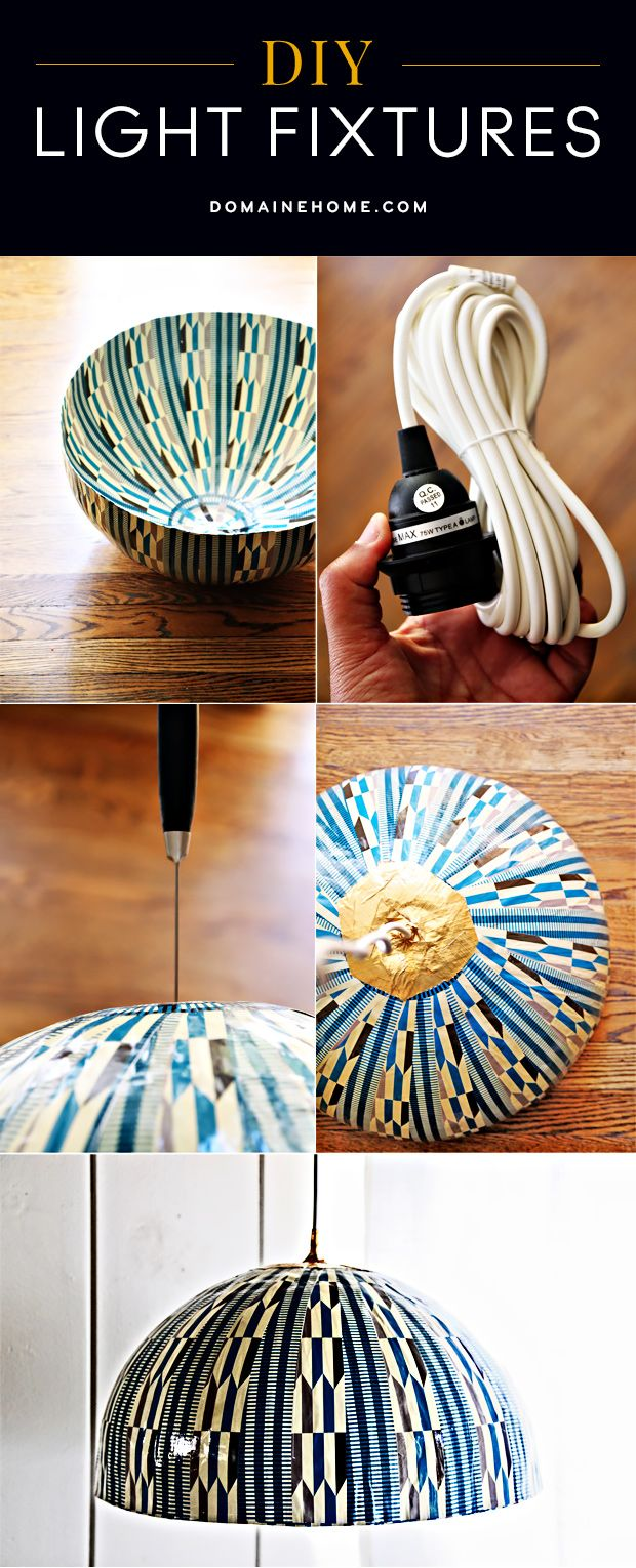 12 dashing diy light fixtures beautiful yarns and do it yourself - Do it yourself light fixtures ...