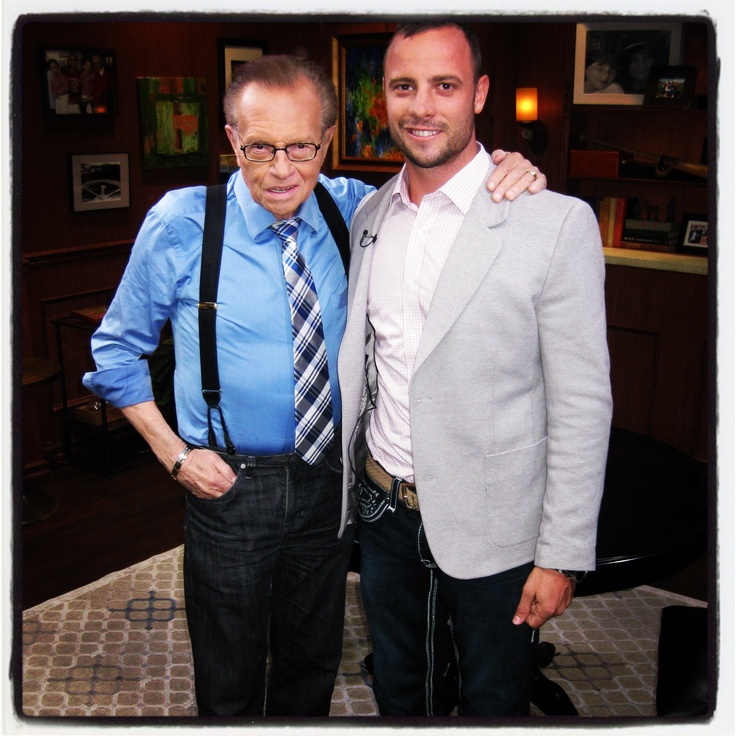 On the set of #LarryKingNow with Olympic /Paralympic athlete Oscar Pistorious - watch the full episode on Ora TV & Hulu:  http://www.ora.tv/larrykingnow/oscar-pistorius-0_pz2yihhe