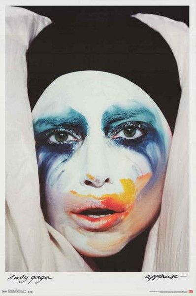 """An awesome Lady Gaga poster! The album cover art for her single """"Applause"""" from her LP Artpop. Fully licensed - 2013. Ships fast. 22x34 inches. Need Poster Mounts..? su9775 td9775"""