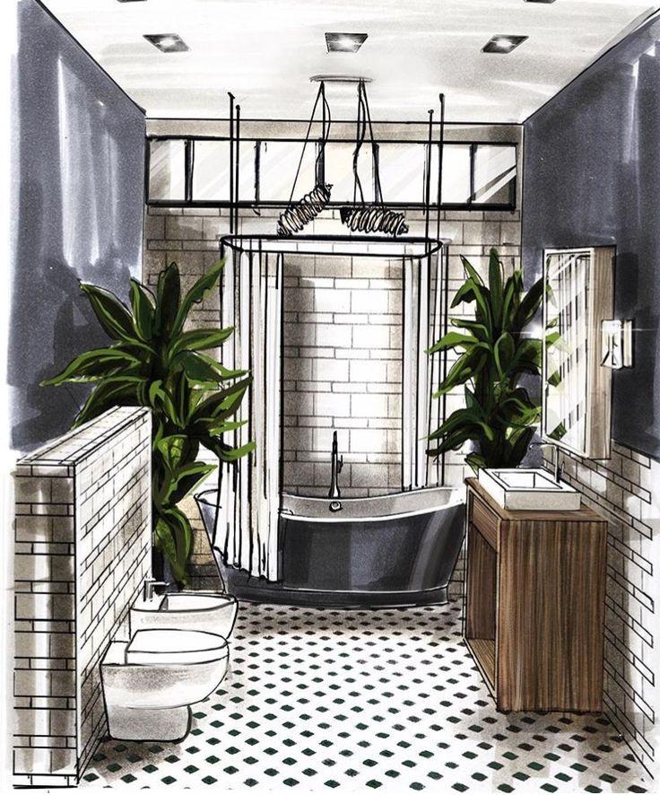 les 25 meilleures id es de la cat gorie croquis d 39 int rieur en exclusivit sur pinterest l. Black Bedroom Furniture Sets. Home Design Ideas