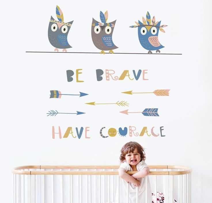 מדבקות קיר לילדים - ינשופים וחצים