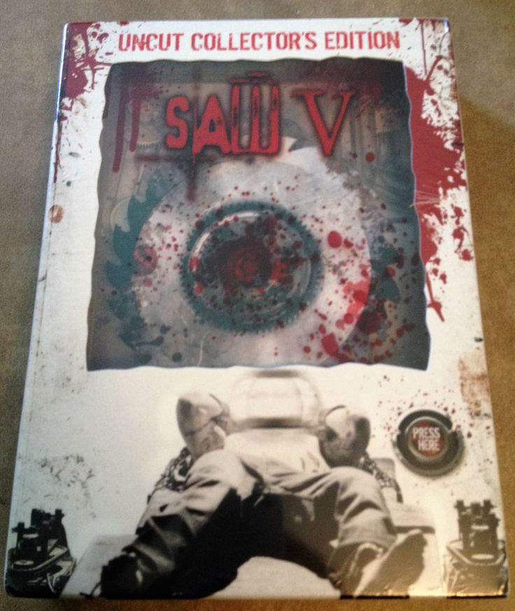 Saw V (DVD, 2009, Uncut Collector s Edition) - Spinning Blade Case + Sound New!