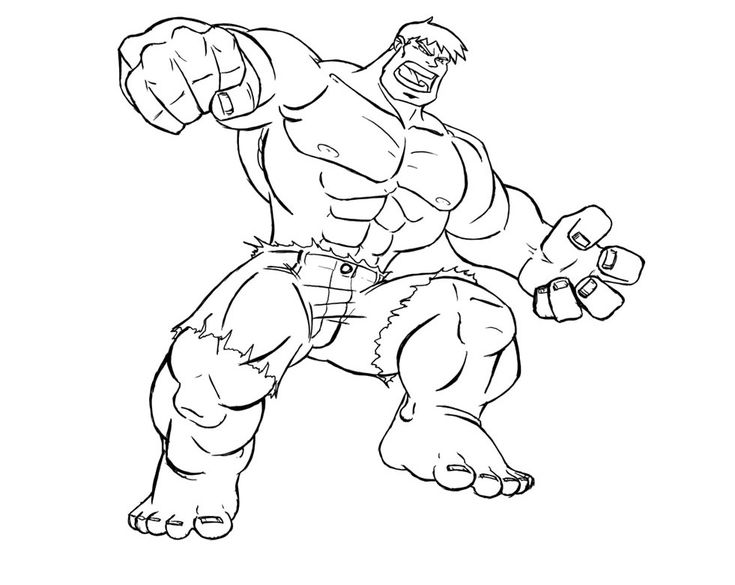 Punch The Hulk Coloring Pages