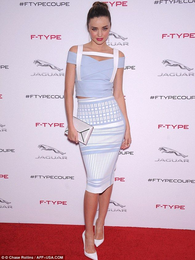 Smouldering: The model struck her best sexy pose on the red carpet