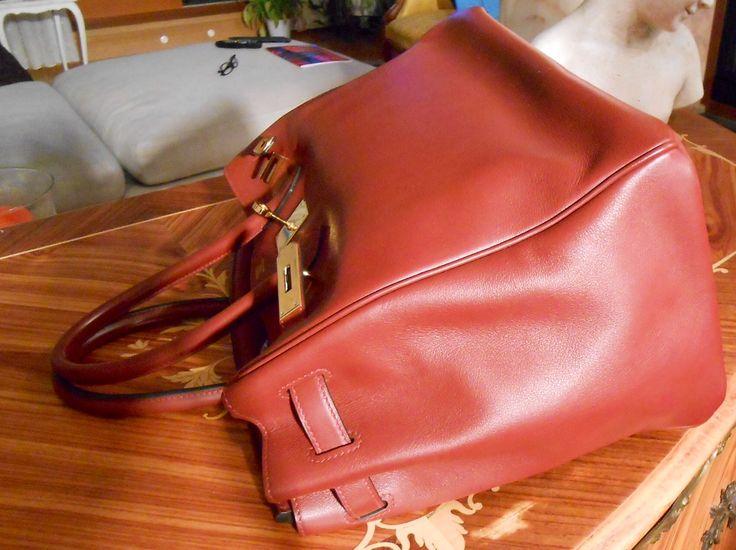 #Hermes #Birkin #40cm #Togo #Leather 40cm #Gold #Hardware #side #luisavintage