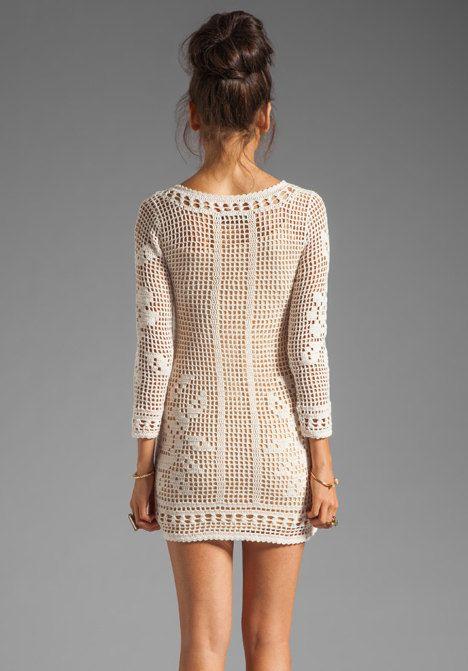 Crochet dress PATTERN HQ filet grid TUTORIAL por CONCEPTcreative