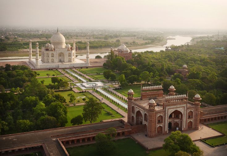 World Landmarks from a Bird's-Eye-View Captured by Drone