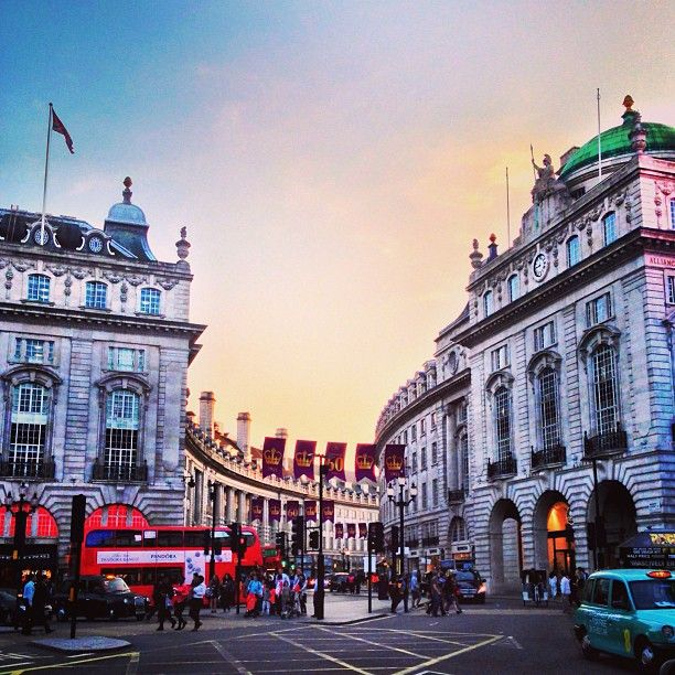 Piccadilly Circus London. We saw Phantom of the Opera at Her Majesty's Theatre.