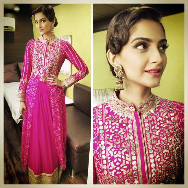 #SonamKapoor in Anita Dongre Couture Dress