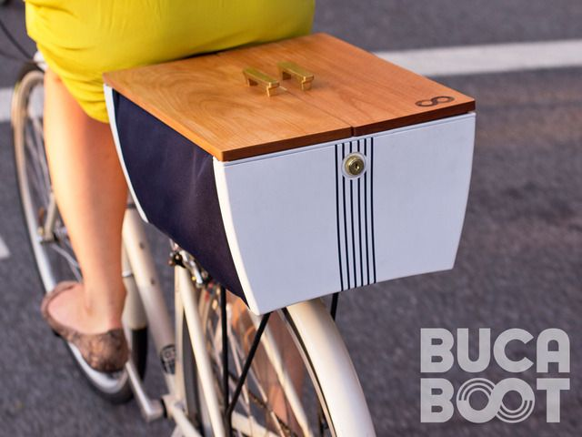 Buca Boot combines the flexibility of a bike basket with the storage security of a car trunk. Stop worrying about your stuff and go!