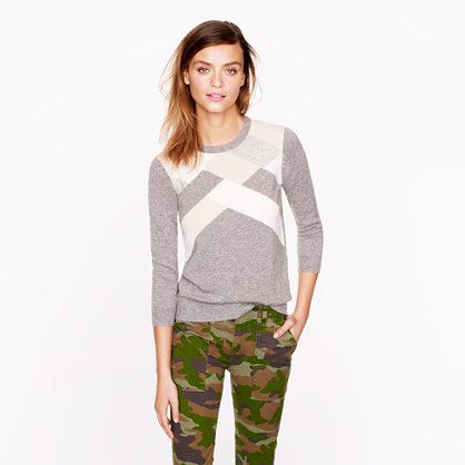 Collection cashmere abstract argyle sweater #jcrew