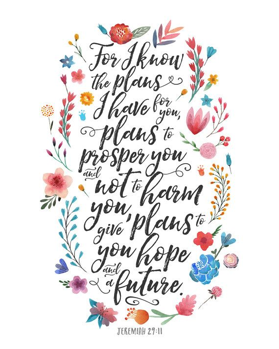 Jeremiah 29:11 Printable Art Scripture Art by NoondaybyTracey