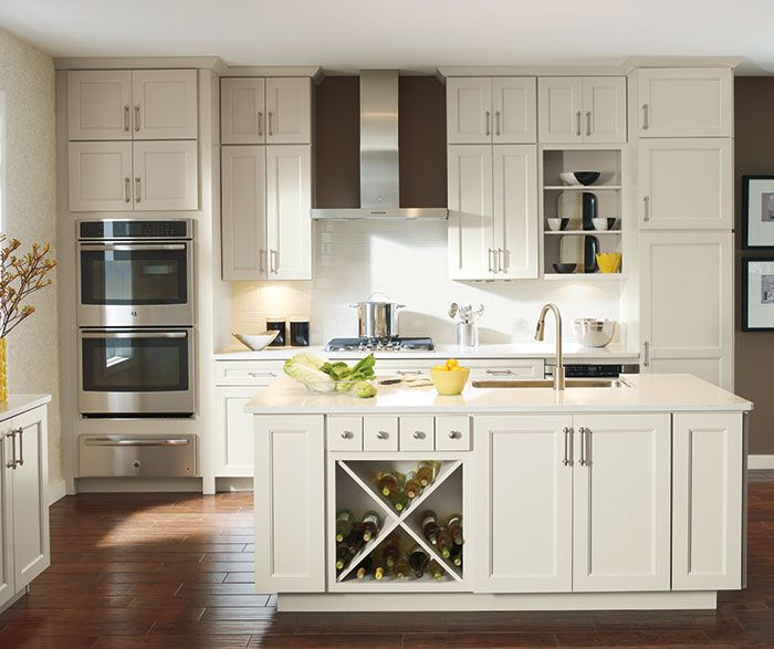 white kitchen cabinets inside culver updates the wide rail shaker look with a soft 28824