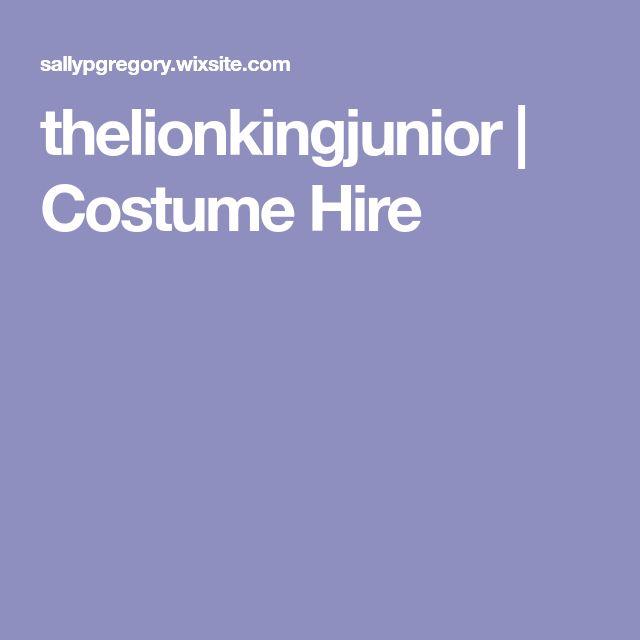 thelionkingjunior | Costume Hire