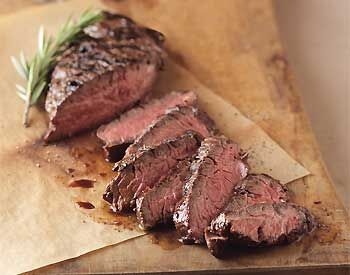 Pan-Grilled Beer-Marinated Hanger Steak Photo at Epicurious.com