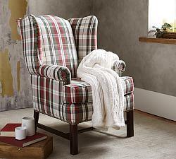 Thatcher Upholstered Armchair - Denver Plaid