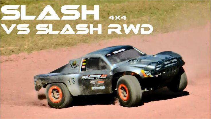 SLASH RWD v.s SLASH 4X4 FLAT TRACK RACING