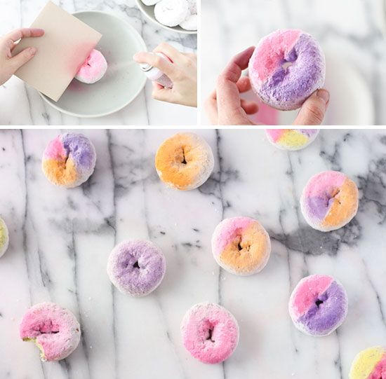 Donut DIY // how to make ombre and color block donuts