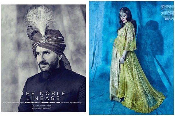 Kareena Kapoor Khan Saif Ali Khan Royal Photo Shoot