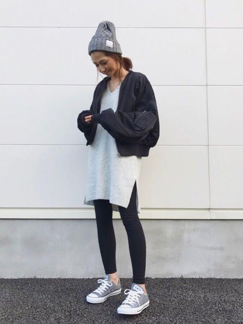 BIGサイズのMA1がかわい♡♡♡ 私はM着用です☺︎ Instagram kayo.912
