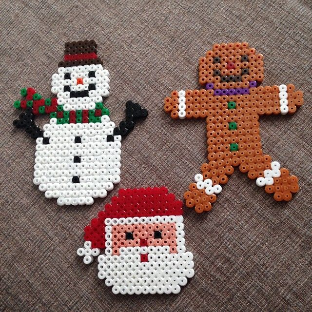 Christmas decorations hama beads by octopusgirl13