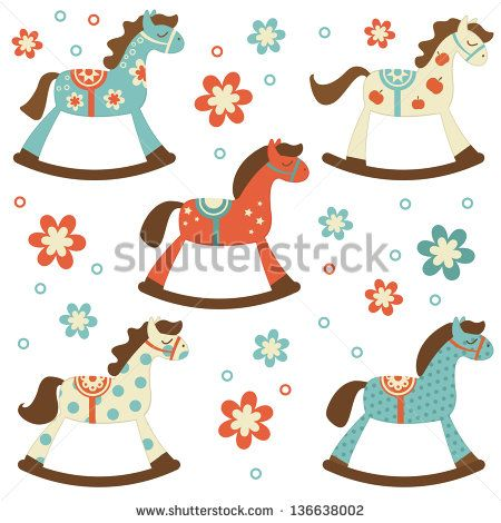 Stock Images similar to ID 43779280 - children and rocking horse ...