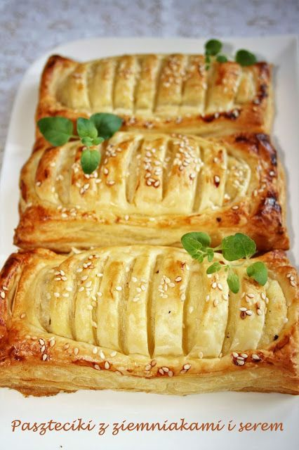 sio-smutki! Monika od kuchni: Paszteciki z ziemniakami i serem (z ciasta francus...