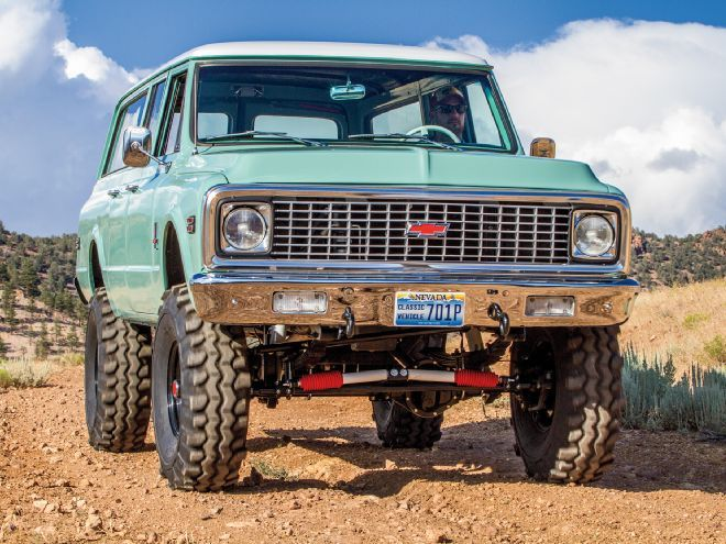 With a 6.0L engine lurking under the hood and 38-inch Super Swampers this 1971 three door Chevy Suburban is more than just a pretty face. http://www.hotrod.com/cars/featured/1620-three-door-thunder-1971-chevy-suburban-with-6-0l-engine?utm_source=rss&utm_medium=synergetic&utm_campaign=RSS