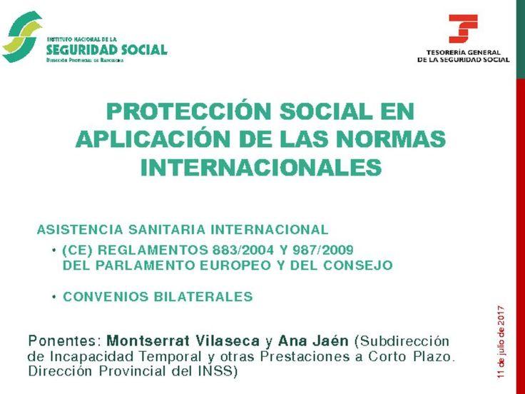 PROTECCIÓN SOCIAL EN APLICACIÓN DE LAS NORMAS INTERNACIONALES