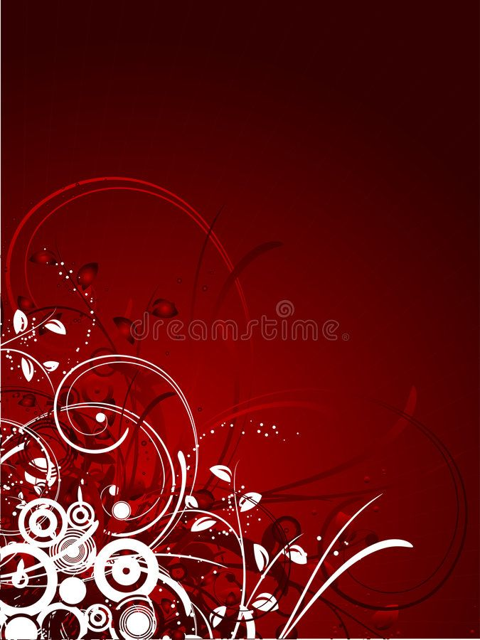 Floral Abstract Abstract Floral Design On Red Gradient Background Aff Abstract Floral Floral Abstr With Images Abstract Floral Red Gradient Background Abstract
