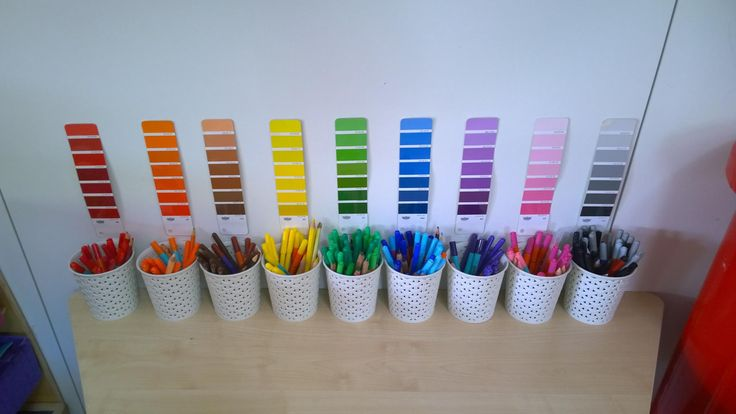Anna's organised pens are so satisfying. What will they look like 5 minutes after school starts?