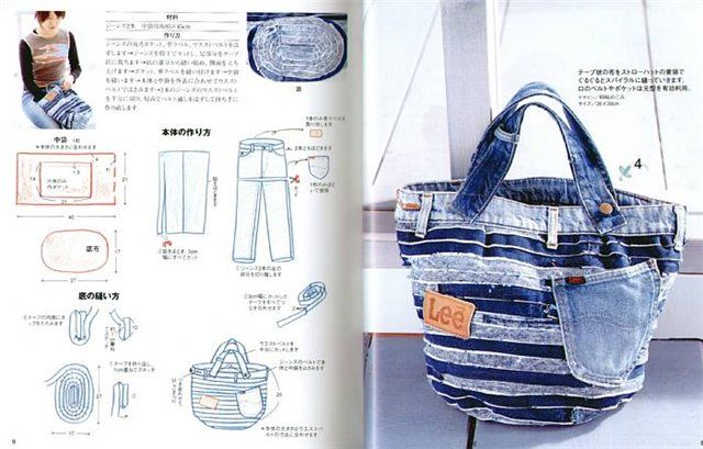 reuse your old jeans :) jeans tote