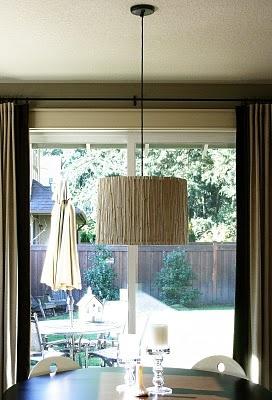 DIY bamboo light fixture