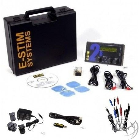 E-Stim 2B Value Pack. the 2B Unit comes with PSU Wall adaptor, Link Software with cable and TriPhase Cable. You will only need some electrodes of your choise.