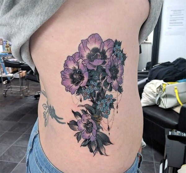 Anemone Tattoo Pimpernel Tattoo Flower Tattoo Bouquet Tattoo Bouquet Of Flowers Tattoo Bouquet Tattoo Anemone Tattoo Anchor Flower Tattoo