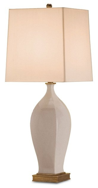 Chilton Table Lamp, Antique White from Currey 29 in. $360.80