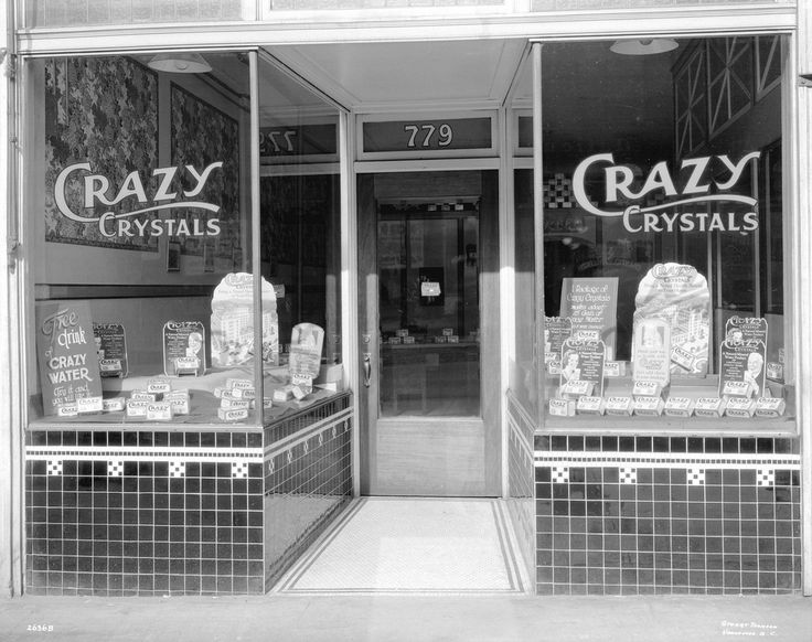 Crazy Crystals Company at 779 Granville Street,1933, by thomson stuart