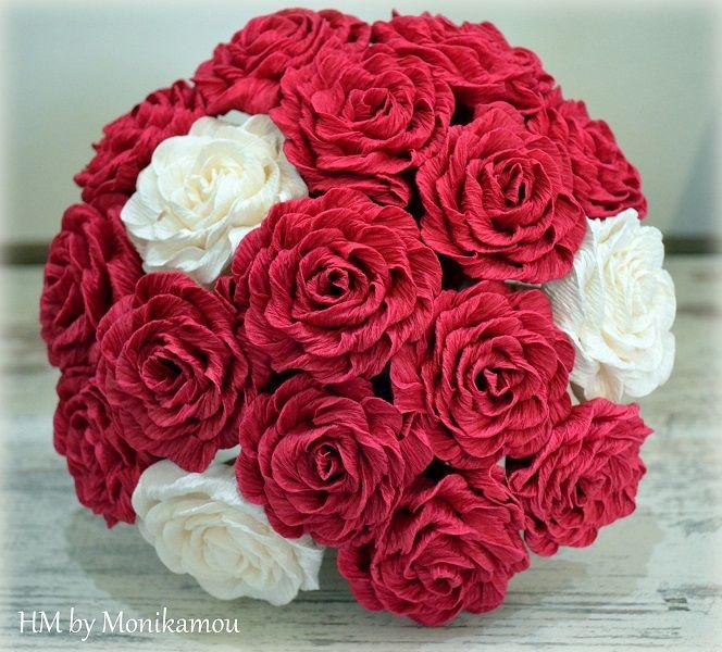 Autor: Fotopostup na výrobu efektnej ruže z krepového papiera