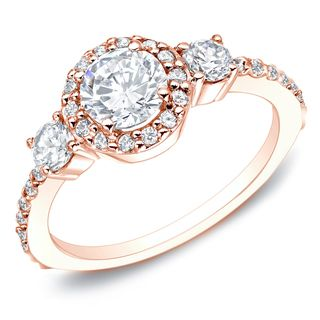 Auriya 14k Gold 3/4ct TDW Round Diamond Engagement Ring (G-H, I1-I2) | Overstock™ Shopping - Top Rated Auriya Engagement Rings