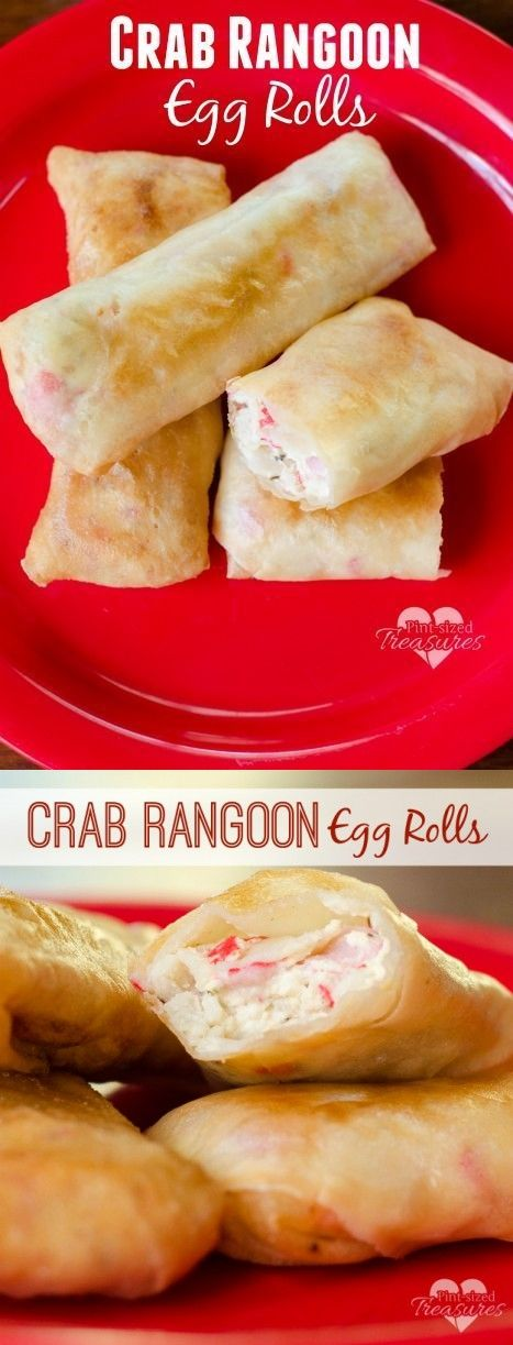 5 oz Crab meat. 1 clove Garlic. 1 Green onion. 1 dash Lemon juice. 1 tsp Worcestershire sauce. 1/2 tsp Salt. 2 cups Vegetable oil. 12 Egg roll wrappers. 6 oz Cream cheese.