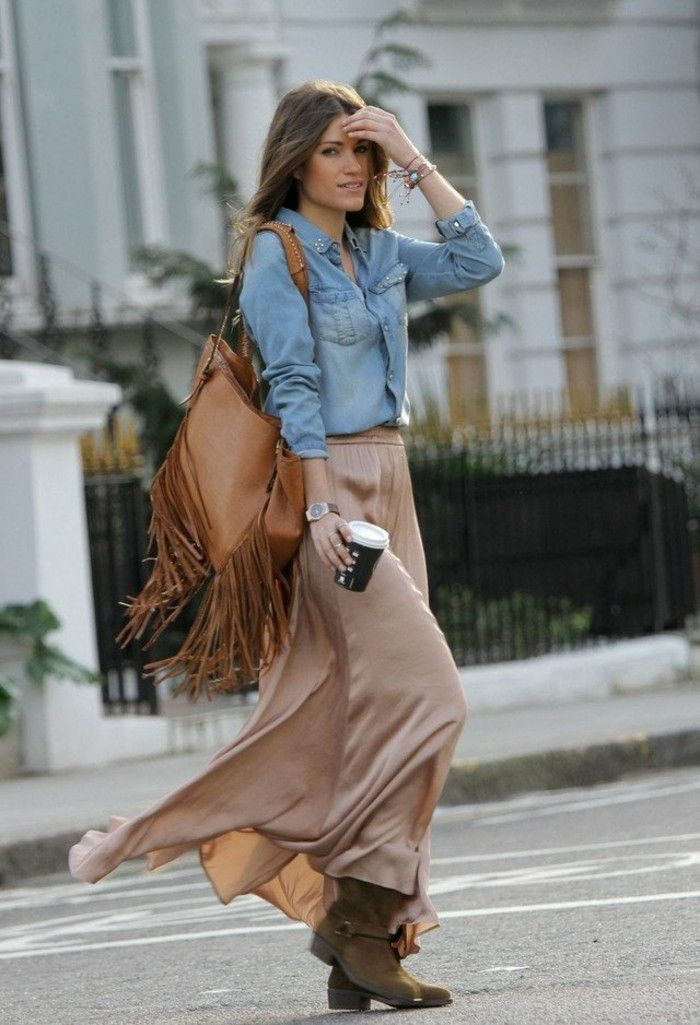 17 best images about mode on pinterest bijoux chemises - Comment porter une chemise en jean ...