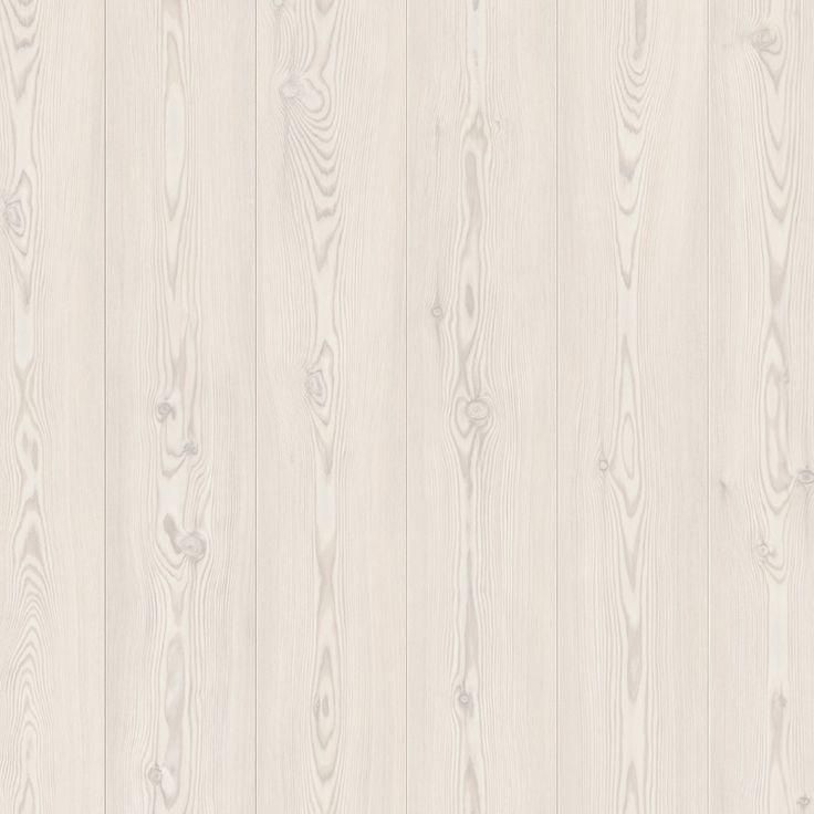 Laminat med mönster av vitt silkesmatt furu Vit Furu är ett laminatgolv i skandinavisk stil av typen EndlessPlank™, en innovation från Pergo som ger intryc