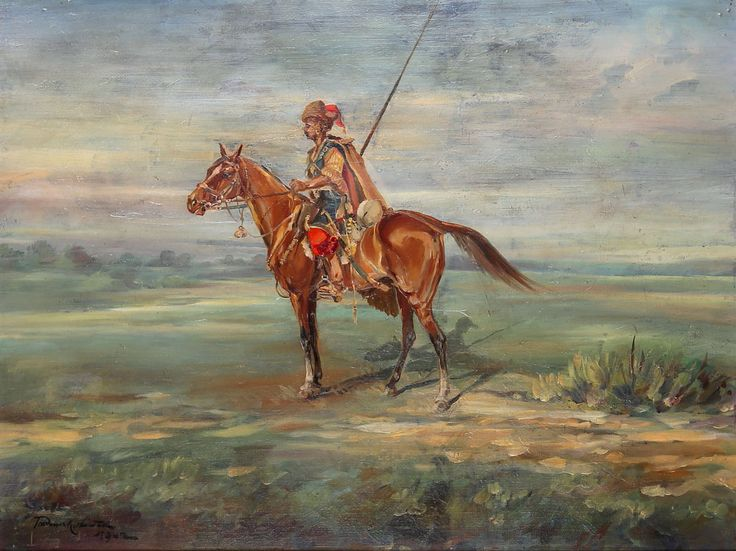 Tadeusz KOKIETEK (1920-1982) 'Lisowczyk na koniu'