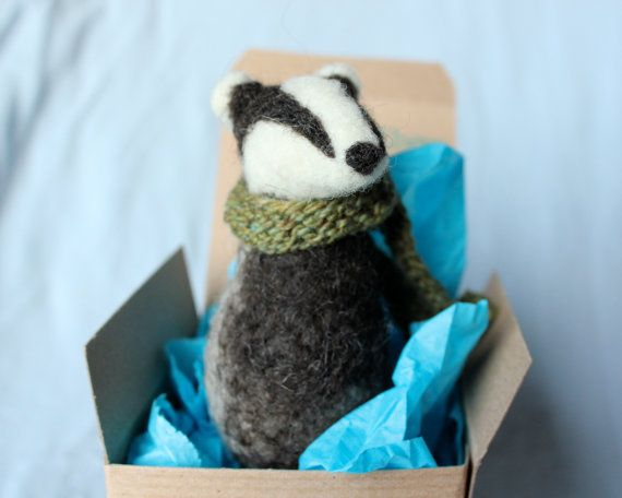 23 best images about needle felting on pinterest wool for Badger christmas decoration
