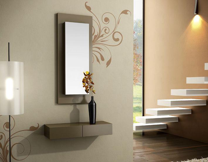 Consola con espejo muebles auxiliares pinterest for Espejos para consolas