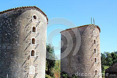 Alte Windmühlen in Portugal
